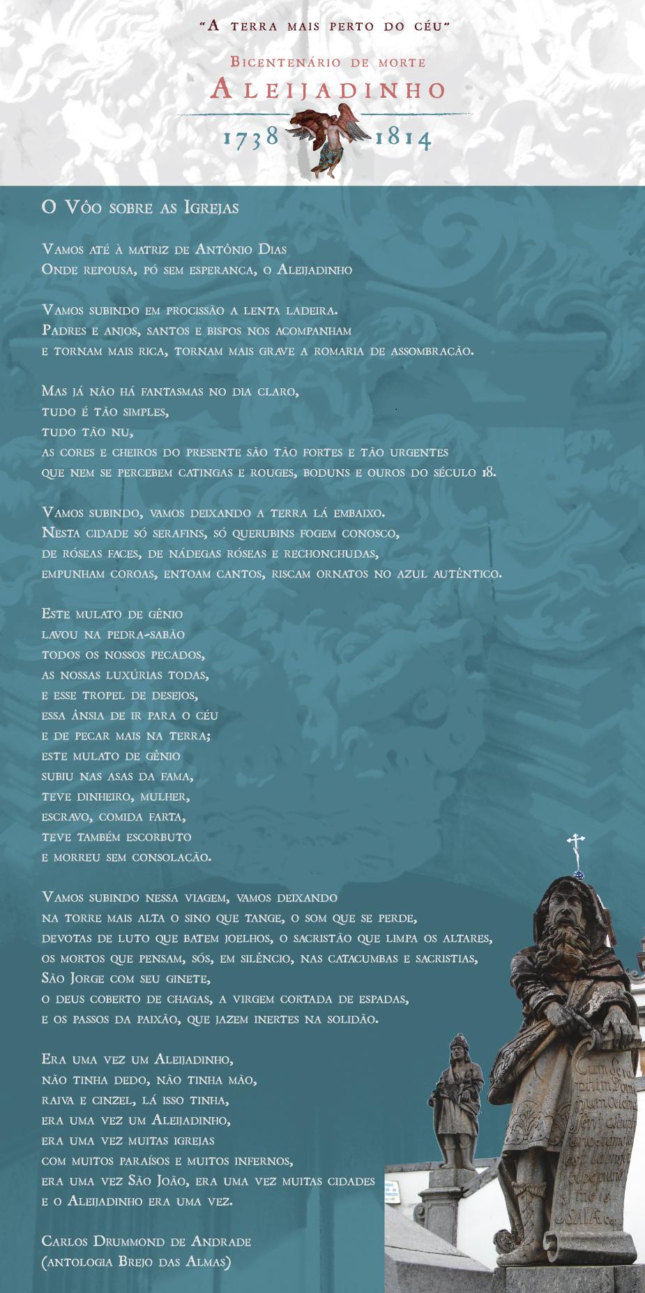 Bicentenário De Morte De Aleijadinho Poema O Vôo Sobre As Igrejas