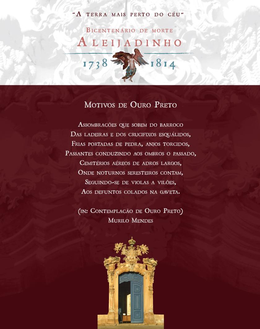 Bicentenário De Morte De Aleijadinho Poema Motivos De Ouro Preto