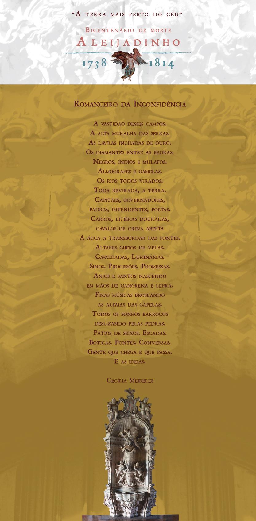 Bicentenário De Morte De Aleijadinho Poema Romanceiro Da